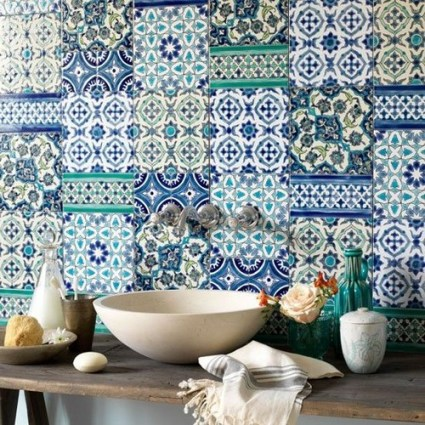Tiled-splashback