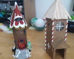 DIY Holiday Elf Houses