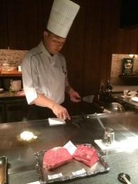 Preparing Miyazaki Beef