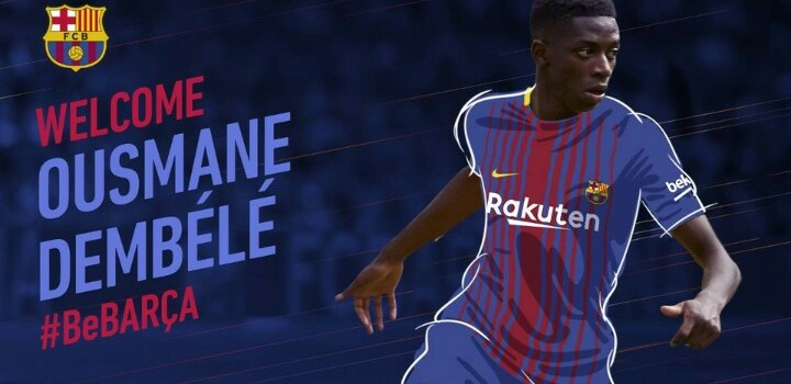 Barcelona sign Dembele, Dortmund forward for £135.5m