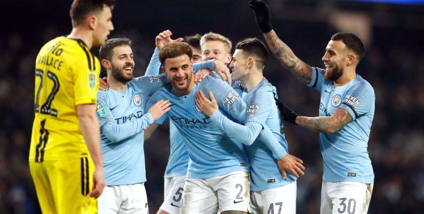 Man City thrash Burton 9-0 to cruise towards League Cup final