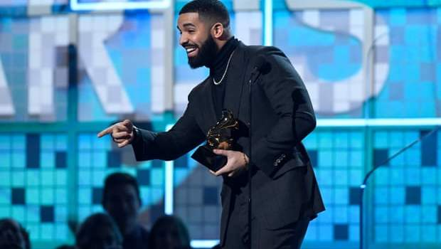 Drake shades Grammys during acceptance speech after winning best rap song