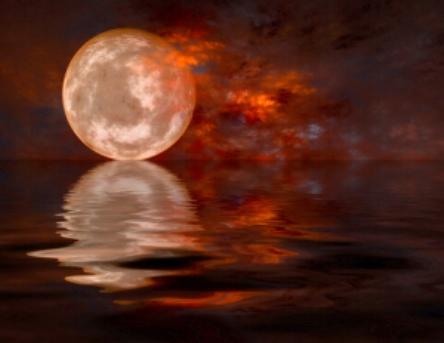 Reiki infused full moon image