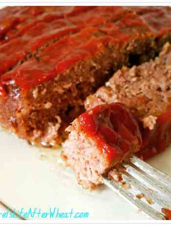 A tender, savory, gluten free meatloaf with that sweet and tangy tomato topping everyone loves.
