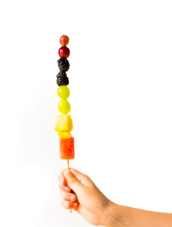 DIY Fruit Kabobs are a fun and healthy treat for the kids this Summer!