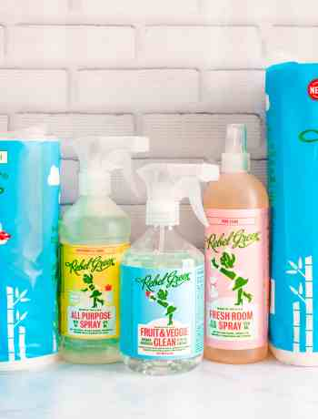 Rebel Green offers a full line of natural household products...everything from produce wash to tree free paper towels, to laundry detergent!