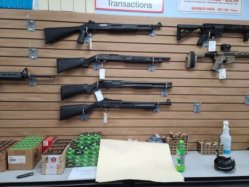 Gun display at Virginia store
