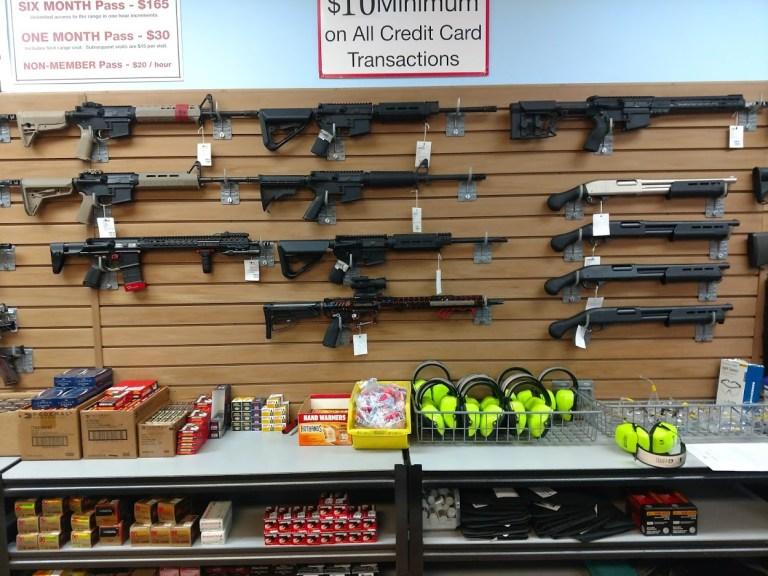 Gun store display
