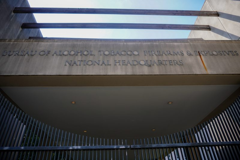 The entrance to the national headquarters of the ATF
