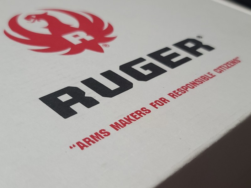 A retail gun box from Ruger