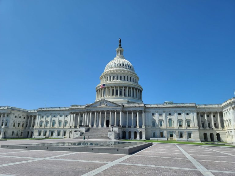 The United States Capitol Building on a sunny day in Washington, D.C.