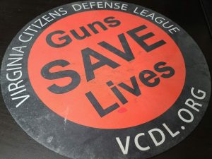 A Virginia Citizens Defense League gun cleaning mat