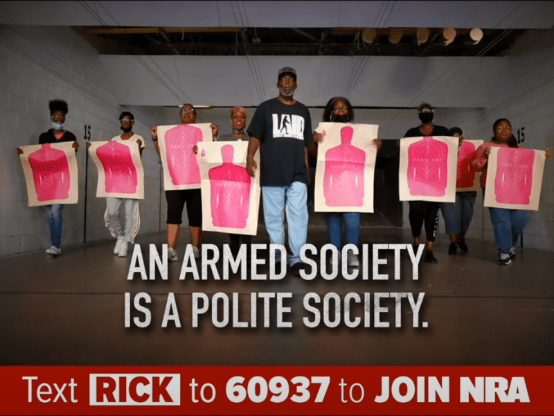 NRA-certified instructor Rick Ector in an NRA ad