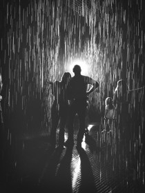Rain Room at LACMA