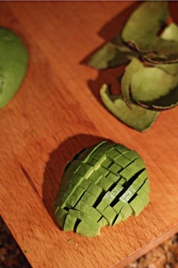 Chopping Avocado