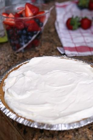 Prepping Cheesecake Tart