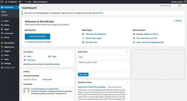 WordPress Dashboard | How to Start a Successful WordPress Blog in 5 Minutes