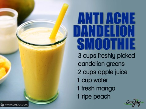 Anti-Acne Dandelion Smoothie