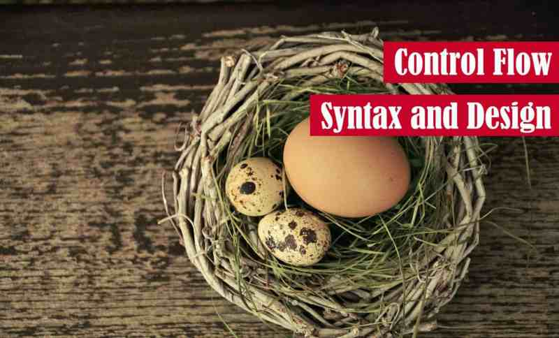 Control Flow Syntax and Design