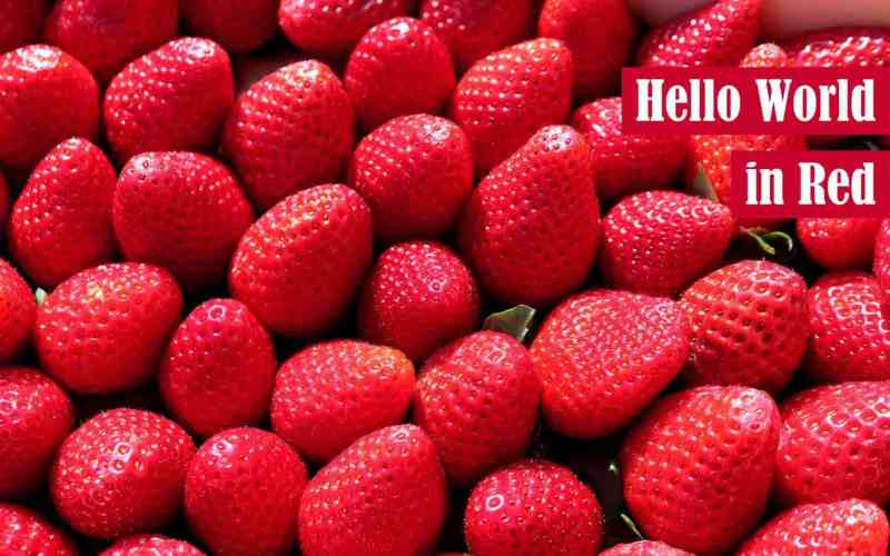Hello World in Red Featured Image