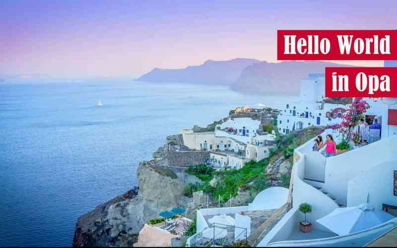 Hello World in Opa Featured Image