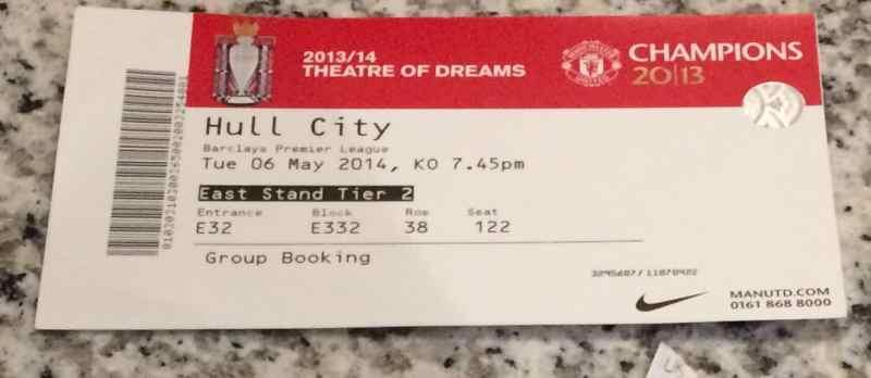 Manchester United Ticket