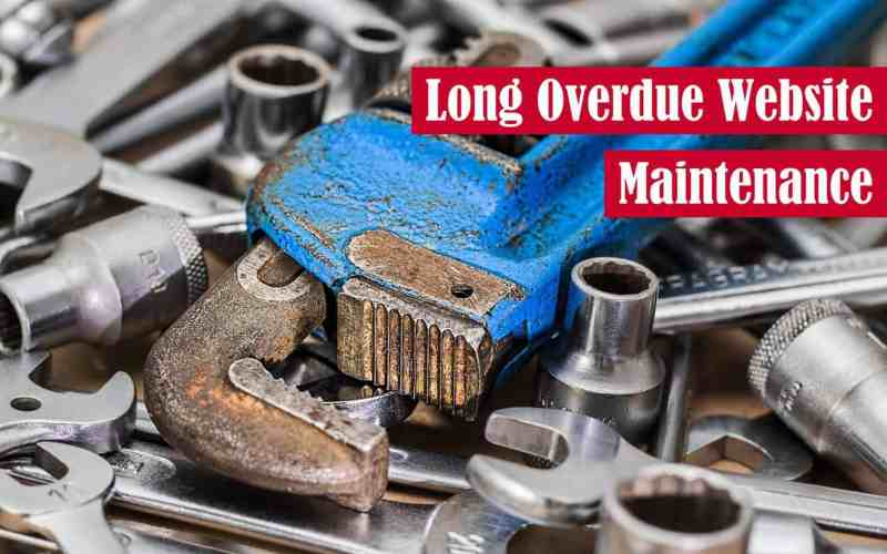 Long Overdue Website Maintenance Featured Image
