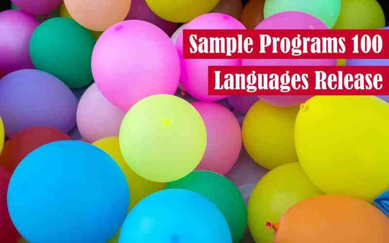 Sample Programs 100 Languages Release Featured Image