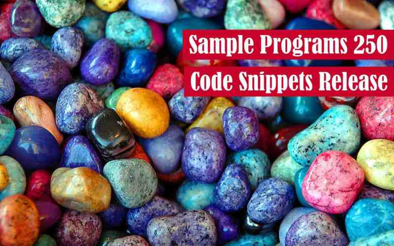 Sample Programs 250 Code Snippet Release Featured Image