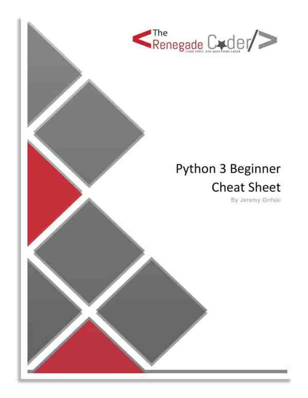 Python 3 Beginner Cheat Sheet Cover Page