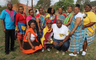 Sada Correctional Services staff members in traditional wear in celebration of Heritage Day recently  Picture: LIYANDA YAMAPHI