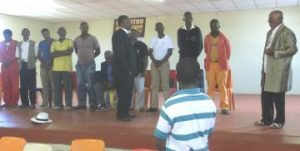 MEN OF CHANGE: Forum members of Real Men in Sterkstroom during the formation of the Eluthuthu Village committee last week