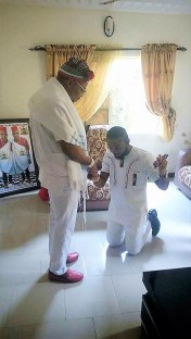 Don Prince getting blessings from Mazi Nnamdi Kanu, The Republican News
