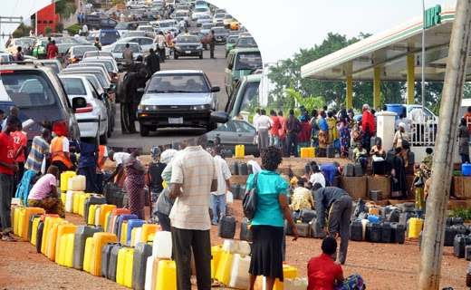 Image result for Nigerian fuel scarity queue photos