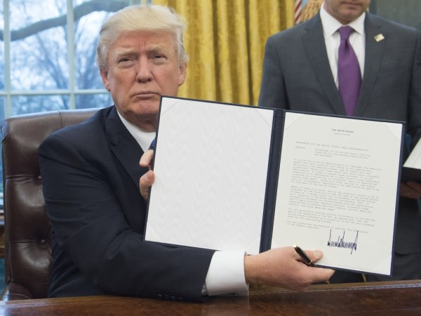 President+Donald+Trump+Signs+Executive+Orders