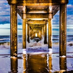 Under the Brighton Beach jetty, Adelaide, South Australia.