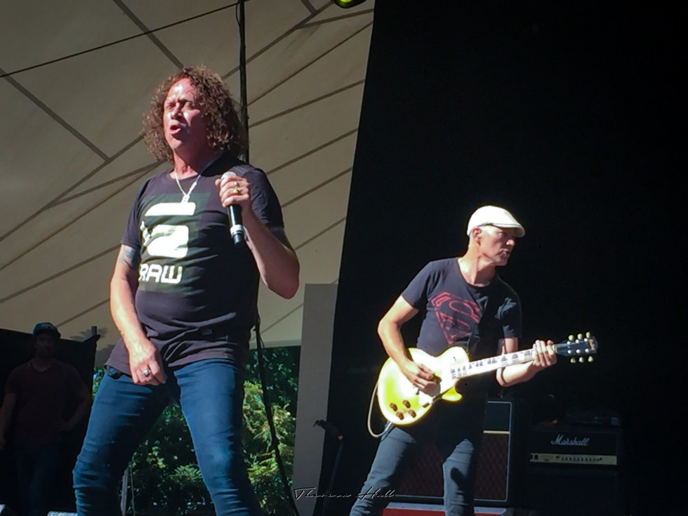 Dave Gleeson, Screaming Jets, at Red Hot Summer Tour, Canberra, 24 February 2019