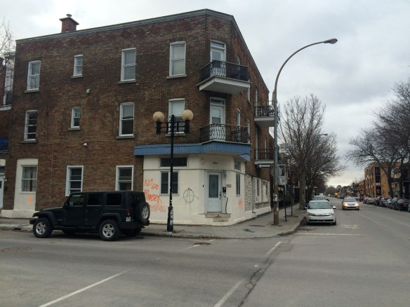 Doucet lived here at the corner of Rouen and Chambly in Montreal's East End.
