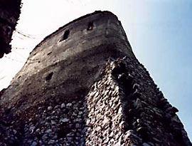 Close up of the tower that ELizabeth's badroom was in & where is walled in for punishment