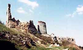 The ruins of Castle Cachtice