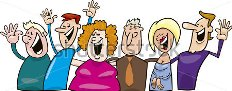 Cartoon happy people