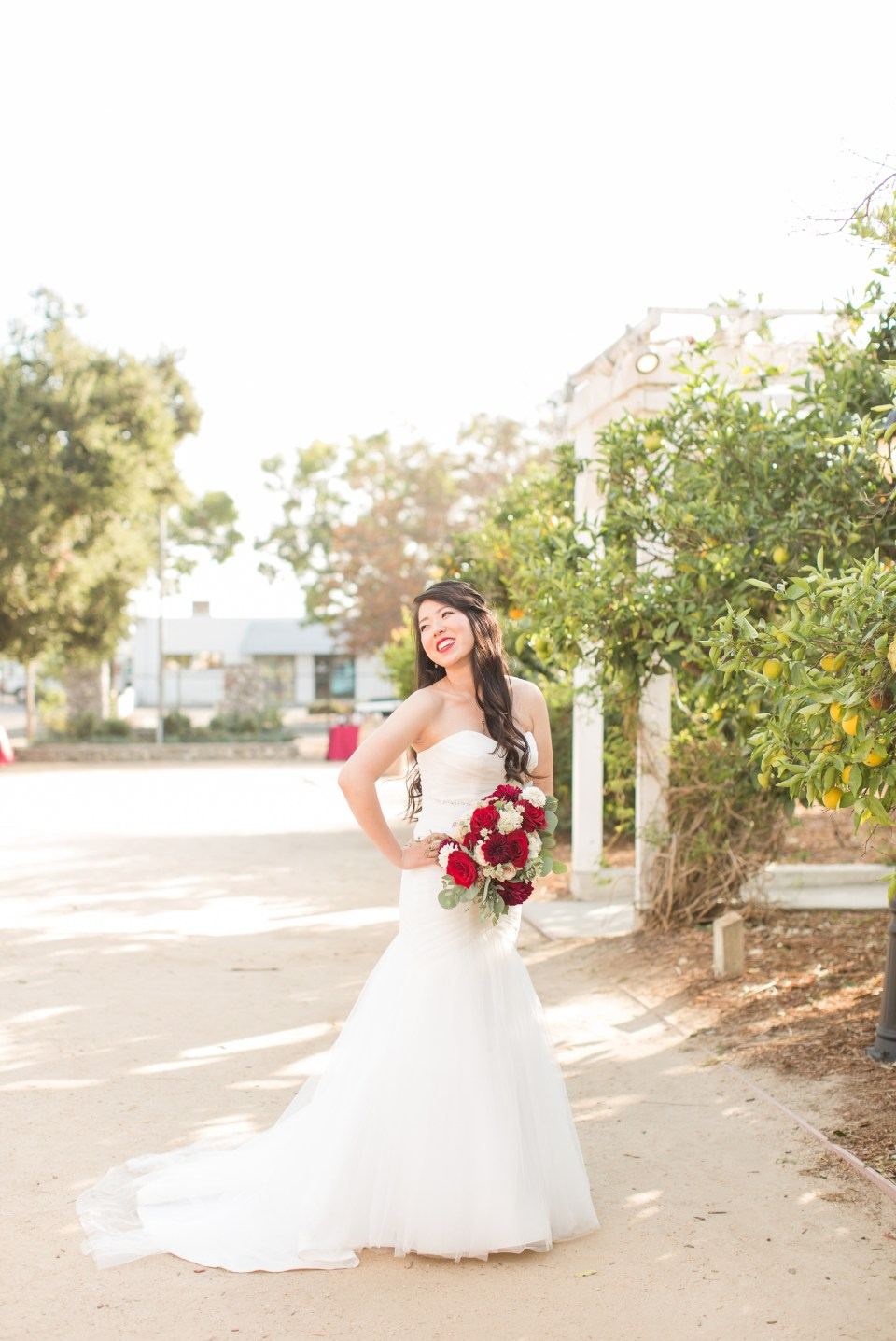 Happy Bride on Wedding Day