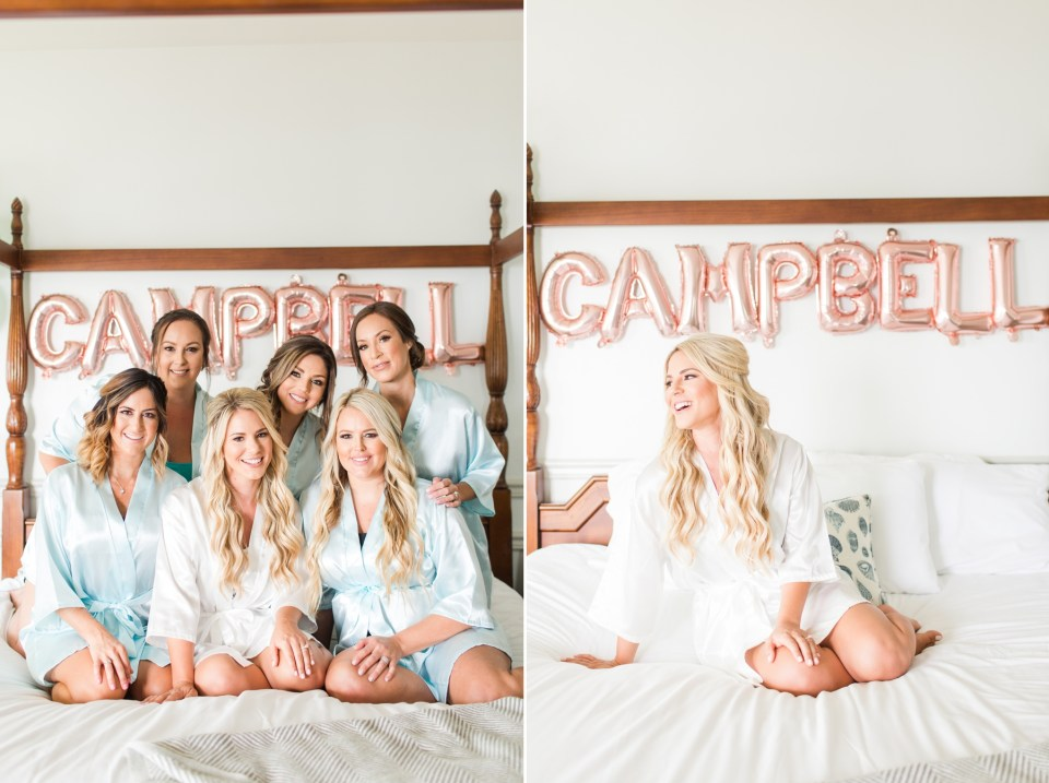 bridesmaid matching robe photo