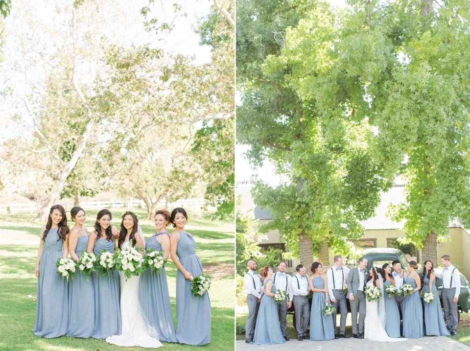 kennedy blue bridesmaid dusty blue bridesmaid dress photo