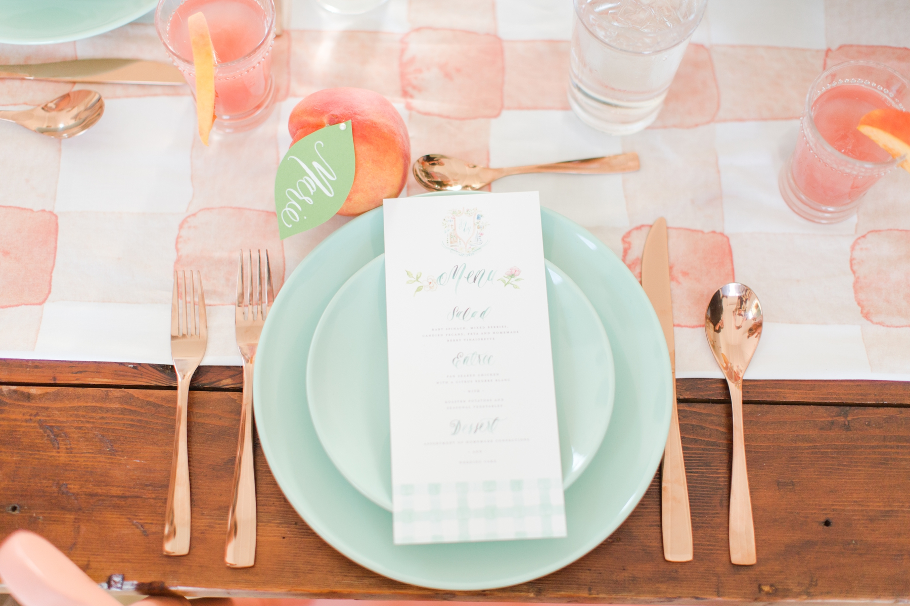 8c9830234b Mint and Peach Summer Inspired Wedding 8