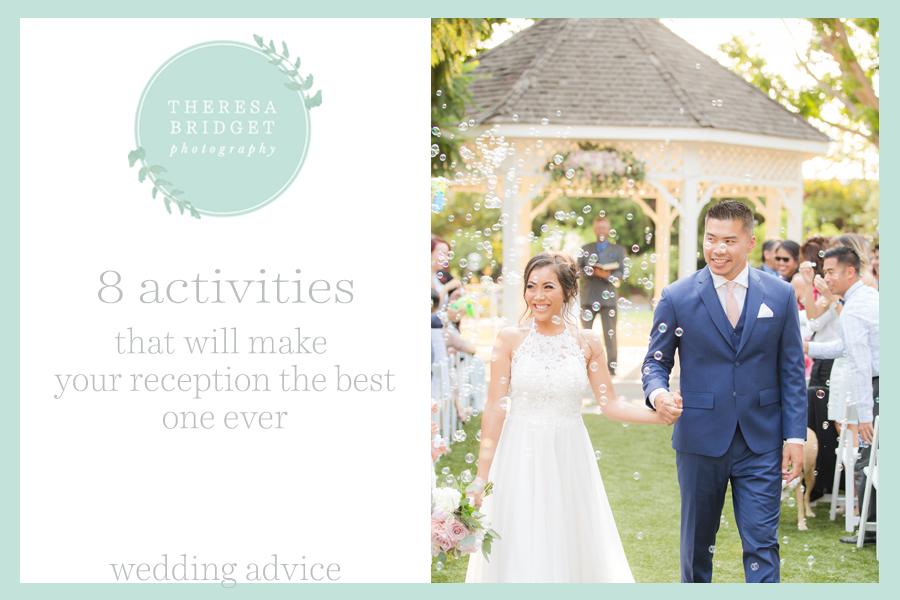 Fun wedding reception activities