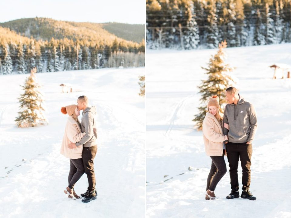 Colorado Engagement Session in snow