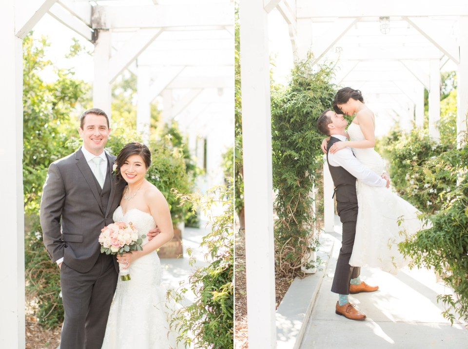 Bride and groom images at Heritage Museum Orange County Wedding