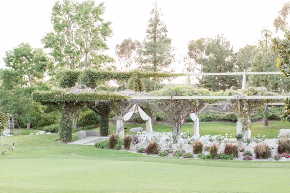 Ceremony site at Coyote Hills golf course in Fullerton California.
