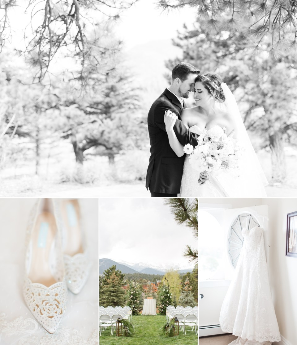 Classic spring wedding at the Stanley Hotel in Estes Park Colorado. Colorado Wedding Photograher, Theresa Bridget Photography.